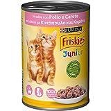 Purina Friskies Umido Gatto Junior, Bocconcini In Salsa Con Pollo e Carote - 24 lattine da 400 g ciascuna (Confezione da 24 x 400 g)