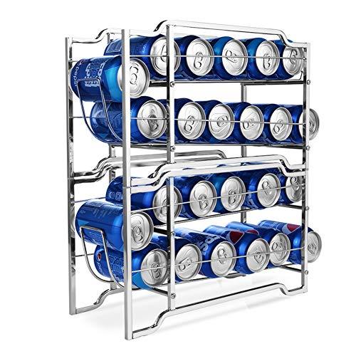 TECHVIDA Dispensador de Latas de Bebidas , Organizador de Almacenamiento de Latas de Refrescos Apilables para Refrigeradores, Preparación y Almacenamiento de Alimentos, Puede...