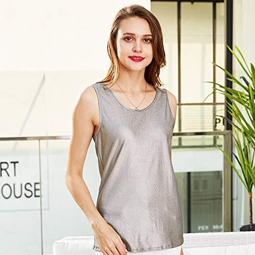 Silberfaser-Herren- Und Damenwesten Strahlenschutz-T-Shirt 100% Silberfaser-Strahlenschutzanzug EMF-Schutzkleidung,L
