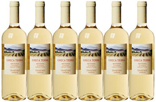 Tsantali Agios Pavlos Retsina Greca Terra Weißwein Bio ( 6 x 0.75 l)