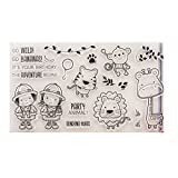 Mentin Animales - Sellos transparentes de silicona de PVC para manualidades creativas como regalo de Navidad para niños