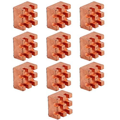 Disipador de calor pequeño de 10 piezas: alta fiabilidad y resistencia al óxido, adecuado para enrutadores, CPU, radiadores IC, PCB, módulos, transistores, tubos, etc.