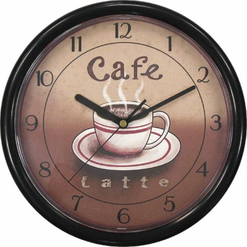 Geneva Clock Co 8125 Cafe Plastic Wall Clock 9 inch