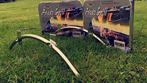 Asado Einweg BBQ & Grill Ständer Plus ist mit BBQ Kartusche