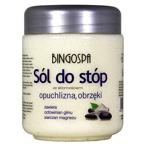 BINGOSPA Sels de bain pour pieds douloureux et enflés, sujets à l'œdème - 550 g