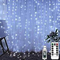 LiyuanQ 300 LED Window Curtain Fairy String Lights