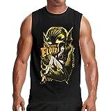 Lsjuee Camiseta sin Mangas sin Mangas del Chaleco del Tanque del músculo de los Hombres Top de Culturismo Diario