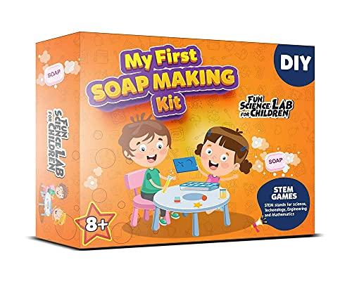 JVTS soap Making kit for Kids. Make Scented and Colored Soaps. for Boys and Girls Above 8 Years | Made in India-Multi Color