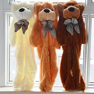 80-200Cm Giant Teddy Bear Big Bear Skin Unstuffed Soft Plush Toy Stuffed Animal Toys for Children Valentine Love Gift Cool Must Haves Gift Box Favourite Superhero Classroom