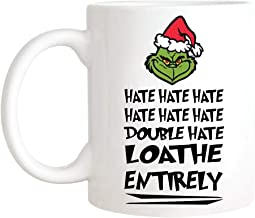 CrossLove - Grinch Mug, Grinch Christmas Mug, Dr Seuss Quotes, How The Grinch Stole Christmas, Christmas Gifts - 11oz Ceramic Coffee Novelty Mug/Tea Cup, High Gloss