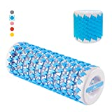 Foam Roller for Physical Therapy and Exercise Back Stretching Adjustable Deep Tissue Massager for Home Gym Blue