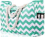 """Best Beach Bags - Beach Bag XXL (HUGE). 100% Waterproof. L22""""xH15""""xW6"""". Rope Review"""