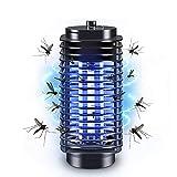 FRGHF Elektrischer Insektenvernichter, UV Insektenfalle Mückenlampe 360° LED Insektenvernichter Mückenlampe KeinLärm Fliegenfalle Elektrisch Mückenschutz, USB Mückenfalle für Innen und Außen