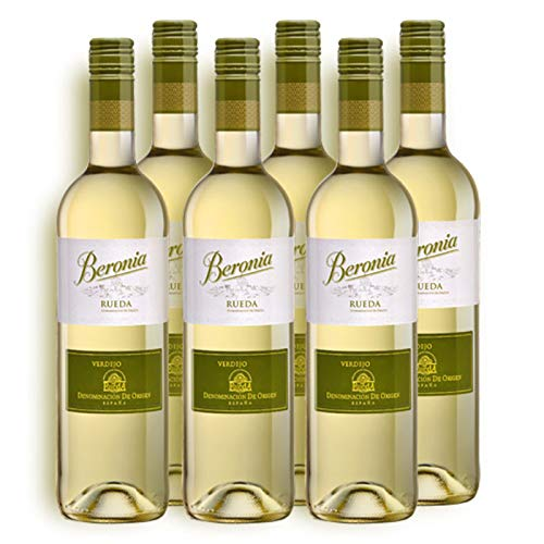 Verdejo Beronia Rueda- Vino blanco de 75 cl - D.O. Rueda - Bodegas Gonzalez Byass (Pack de 6 botellas)