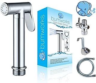 Bumworks Handheld Bidet Cloth Diaper Sprayer for Toilet | Bum Gun Butt Washer, Hand Held Bidet Hose Attachment Water Jet S...
