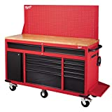 Milwaukee 61 in. 11-Drawer/1-Door 22 in. D Mobile Workbench with...