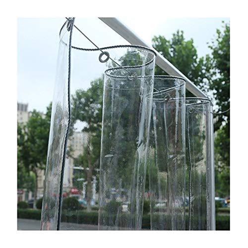 GHHZZQ Lona Alquitranada Transparente El Plastico Al Aire Libre Impermeable Parabrisas PVC Balcón Impermeable A Prueba de Viento, 0,3 mm Espesor, Los 2x4m (Color : Clear, Size : 2x6m)