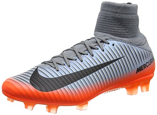 Nike Mercurial Veloce III DF CR7 FG Mens Football Boots 852518 Soccer Cleats (UK 8 US 9 EU 42.5, Cool Grey Metallic Hematite 001)