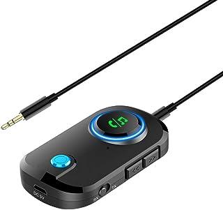 Ewin Bluetooth5.0 トランスミッター レシーバー 一台三役 送信機 受信機 ハンズフリー通話 2台同時接続 3.5mmオーディオ 車・ホームステレオ・ヘッドフォン・スピーカー・Nintendo Switch・PS4対応 小型 技...