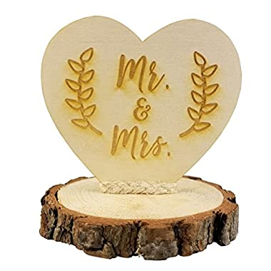Rustic Mr. & Mrs. Wedding Cake Topper