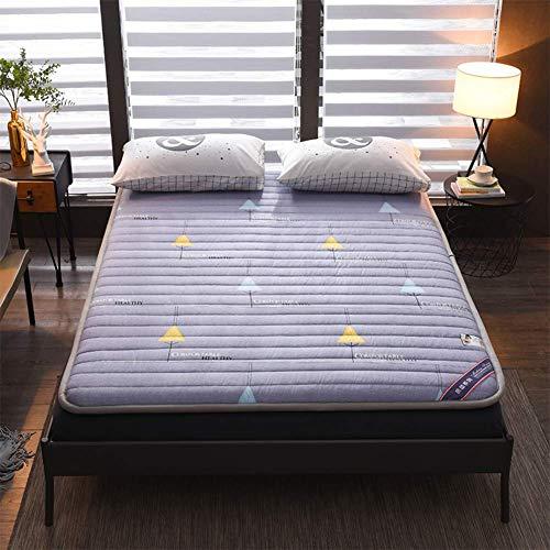 Alfombrilla para dormir, tatami japonés tradicional, colchón para futón, colchón plegable para dormitorio de estudiantes, fácil almacenamiento, cama enrollable para invitados, tamaño de 120 x 200 cm
