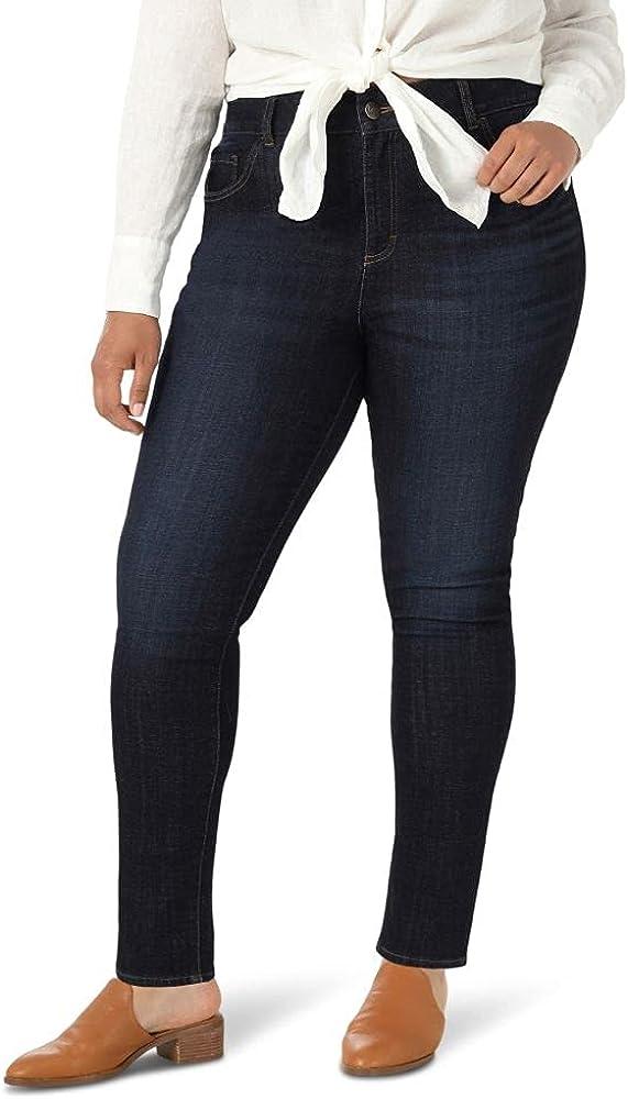 Lee Women's Plus Size Slim Fit Skinny Leg Midrise Jean