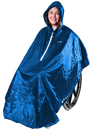 GOTITA - Waterdichte poncho voor rolstoel - Universele regenjas - Regenjas voor rolstoel Eenvoudig in gebruik. Italiaanse designponcho