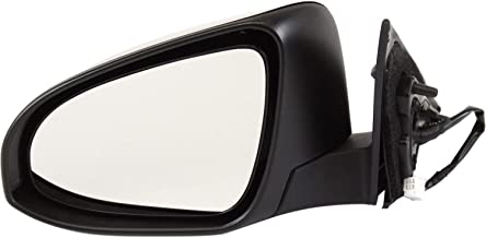 Mirror Compatible with 2012-2014 Toyota Camry Power Manual Folding L/LE/Hybrid LE Models Paintable Driver Side
