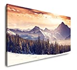 Paul Sinus Art Landschaft Alpen 120x 60cm Panorama Leinwand