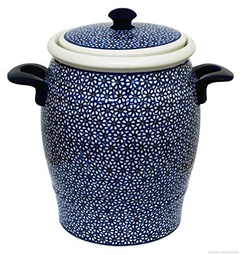 Original Bunzlauer Keramik Retro-Rumtopf 4.2 Liter im Dekor 120 - Handarbeit
