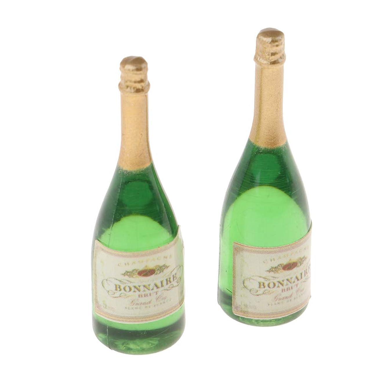 SM SunniMix Set of 2 Champagne Bottles 1:12 Mini Ornaments for Dolls House