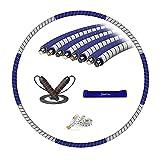 YOCKTECH Hula Hoop,Hoola Hoop Adulti Fitness per Design Staccabile a 8 sezioni, Il Hoola Hoop di Circa 0.85kg, ponderato per Esercizi fisici Hoola Hoop e Corda, Facile da trasportare Adatto ad Donna