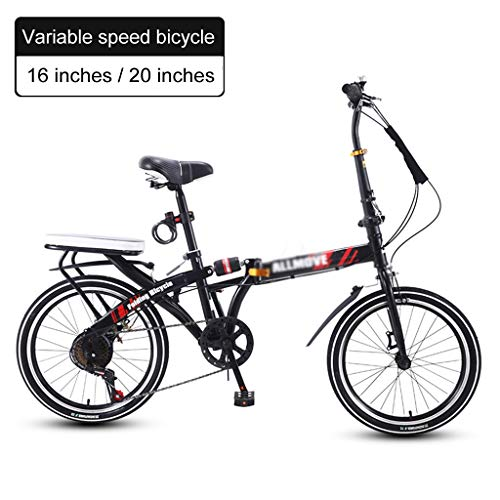 Review Of Variable Speed Bicycle Small Mini Bike to Work Ultra Light Portable Folding Bicycle Adult ...