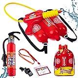Born Toys 5 Piece Premium Firefighter Water Gun Toy Set and...