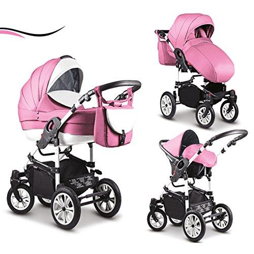 16 teiliges Qualitäts-Kinderwagenset-Reisesystem 3 in 1