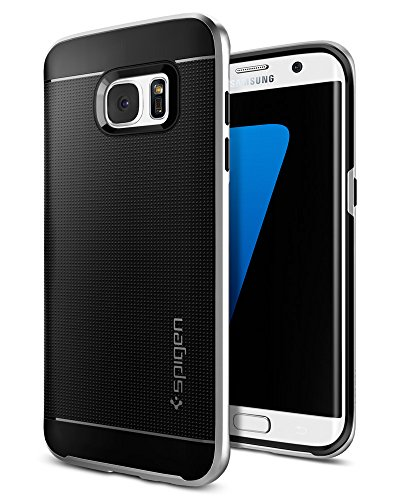 Spigen Neo Hybrid Galaxy S7 Edge Case with Flexible Inner Protection and Reinforced Hard Bumper Frame for Samsung Galaxy S7 Edge 2016 - Satin Silver