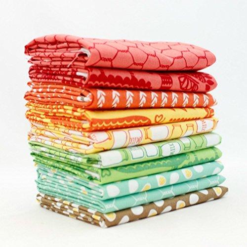 30s Playtime 2017 Fat Quarter Bundle (10 pcs) - Chloes Closet - Moda 18 x 21 inches (45.72cm x 53.34cm) fabric cuts DIY quilt fabric
