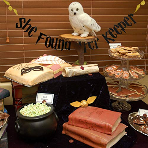 HEETON She Found Her Keeper Bachelorette Party Banner Magic Harry Potter Golden Snitch Theme Wedding Party Decoration Supplies Pre-Strung