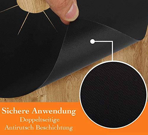 FireMat Kochfeld Protector (2 x 27x27cm, schwarz) Universal feuerfeste Brandschutz Unterlage für Gas Brenner UVM.