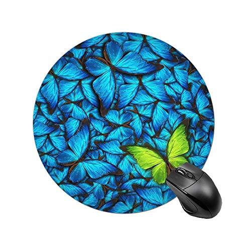 Alfombrilla de ratón redonda de superficie lisa para regalo Mousepad colorido perro pata impresión