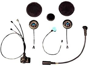 J&M Corporation Unisex-Adult 787 Elite Series Motorcycle Headset Hi-Speaker Custom Open Face/Flip Style (Black, One Size)