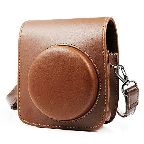 MOOKLIN Compatible con Funda de Cámara Fujifilm Instax, Mini 90 PU Leather Case Bag Bolsa de Hombro con Bolsillo