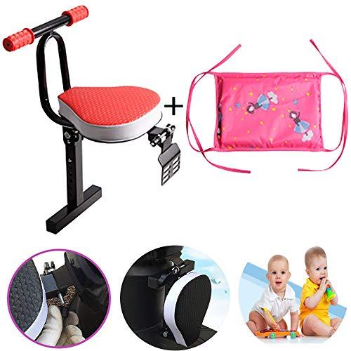 FHGH Kindersitz Fahrrad,Fahrradkindersitz Sicherheit Kindersitz Elektroauto Kindersitz Roller Vordersitz Batterie Auto Klapp Baby Sicherheitssitz