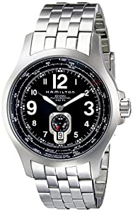 Hamilton Khaki Aviation Mens Black Dial Stainless Steel Automatic Watch H76515133 image