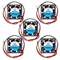 WINSINN 40mm Fan 12V Dual Ball Bearing Brushless 4010 40x10mm - High Speed (Pack of 5Pcs)