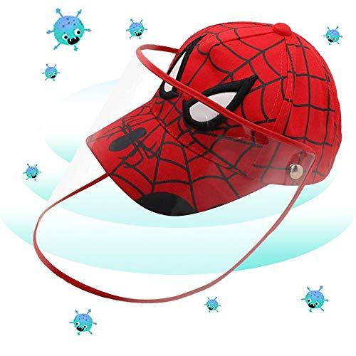 Chrysan Schutzhut mit Gesichtsschutz Kinder Baseball Kappe Hut mit Visierschutz für Jungen Mädchen Sonne UV Schutzhut