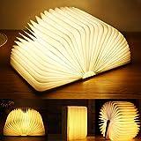 Yuanj Lampe de livre LED en bois, rechargeable par USB, lampe de livre Aurora, lampe...