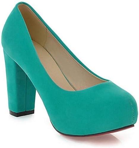 Glz Chaussures à à Talons Hauts pour Femmes, Talon épais, Plate-Forme imperméable à l'eau, Chaussures Simples en Daim Mat  les clients d'abord la réputation d'abord