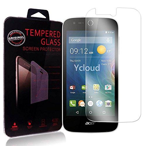 Ycloud Panzerglas Folie Schutzfolie Bildschirmschutzfolie für Acer Liquid Z330 screen protector mit Festigkeitgrad 9H, 0,26mm Ultra-Dünn, Abger&ete Kanten