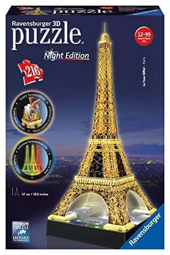 Ravensburger Eiffel Tower - Night Edition - 3D Puzzle (216-Piece) by Ravensburger